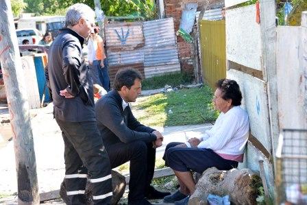 Massa y Zamora recorrieron las zonas de Tigre afectadas por el temporal