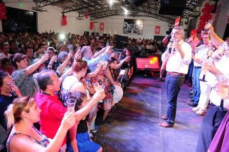 Los empleados municipales de Tigre compartieron el brindis de fin de año