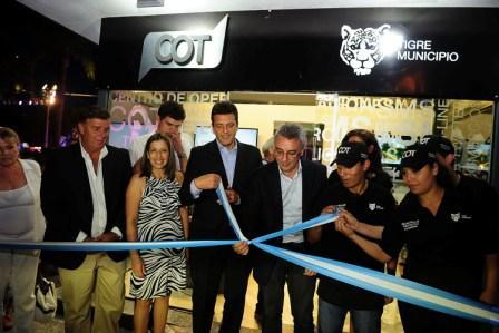 el Diputado Nacional, Sergio Massa y el Intendente de Tigre, Julio Zamora inauguraron la flamante dependencia del Centro de Operaciones Tigre