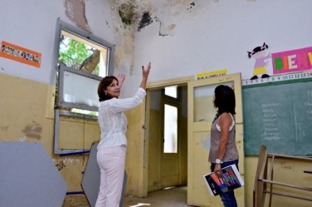 San Fernando empezó renovar una parte de la Escuela Primaria N° 40