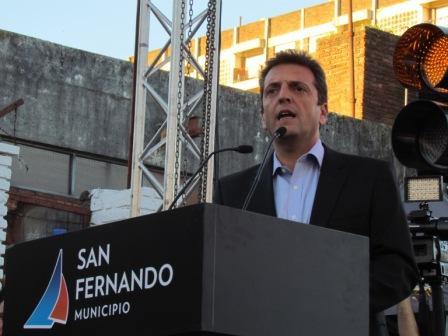 Sergio Massa acompañó al intendente de San Fernando, Luis Andreotti, en la inauguración del Túnel de Chacabuco