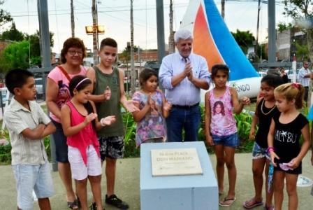 Luis Andreotti inauguró una nueva plaza para los barrios Don Mariano y Villa Hall