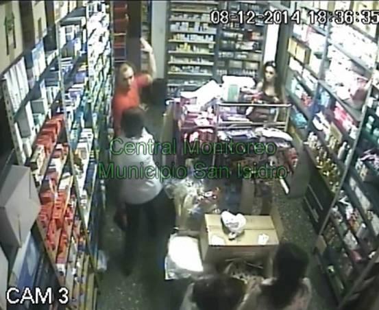 Identifican a un delincuente por las cámaras de seguridad de San Isidro