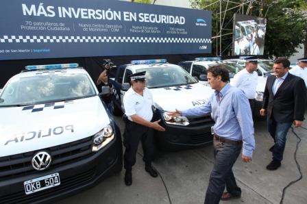 Katopodis y Massa presentaron nuevos patrulleros municipales