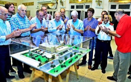 Se presentó la maqueta del futuro Cuartel Central de Bomberos de San Fernando