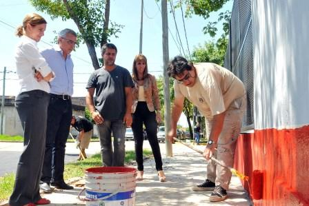 Realizan trabajos de refacción y mantenimiento en la Escuela Nº 19