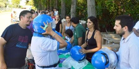 200 vecinos de Tigre recibieron sus cascos de Seguridad Vial
