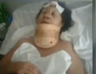 Brutal golpiza a una mujer en Virreyes