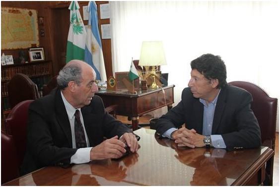El intendente de Adolfo Alsina visitó San Isidro