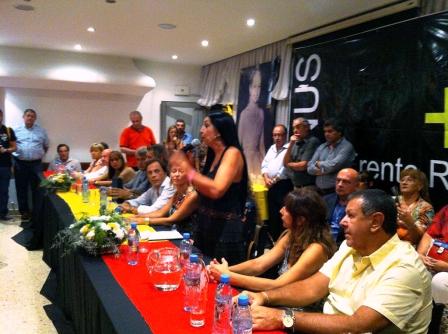 Marcela Durrieu estuvo en Lanús, invitada por la precandidata a intendente de Lanús, Noelia Quindimil