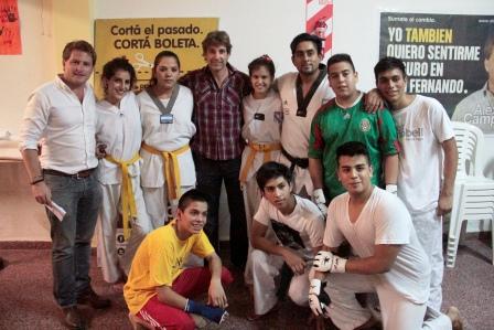 Alex Campbell recorrió junto al actor Segundo Cernadas las distintas actividades que el PRO local realiza en los barrios de San Fernando