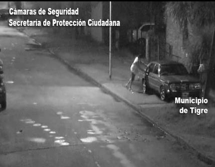 Por las cámaras detectan y detienen a un ladrón en Tigre