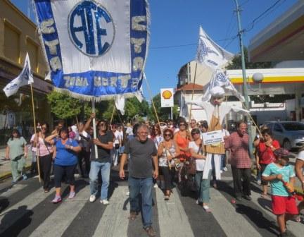 Jornada de Movilización y Protesta de ATE Zona Norte por Descuentos Indebidos a los Auxiliares Docentes