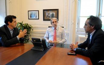 Aníbal Fernández y De Pedro se reunieron con el intendente de Escobar Sandro Guzmán