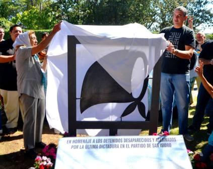 Homenaje a los desaparecidos de San Isidro