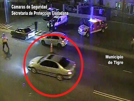 Persecución y detención de un hombre alcoholizado que evadió un control vial en Tigre