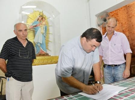 San Fernando entregó aportes para restaurar el templo Nuestra Señora de la Guardia