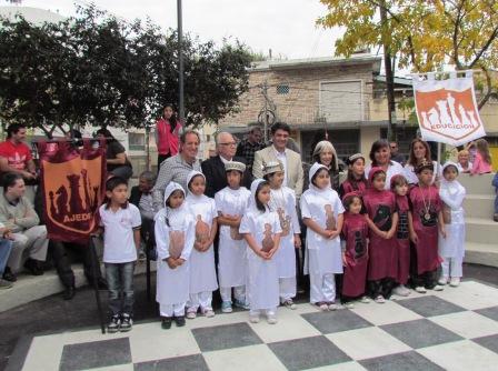 Jorge Macri reinauguró la plaza Vienni de Villa Martelli