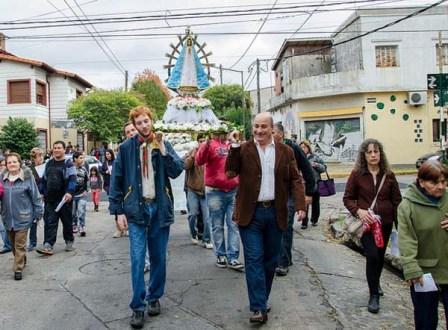 Castellano celebró con la comunidad de Villa Adelina el día de la Virgen de Lujan