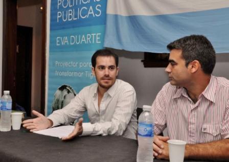 Dante Palma presentó su libro en Tigre junto a Federico Ugo