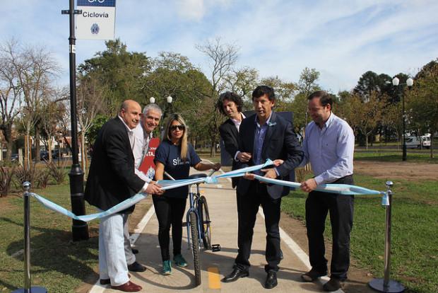 Se inauguró un nuevo tramo de ciclovías en San Isidro