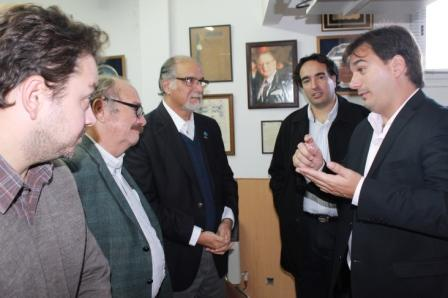 Galmarini visitó la Cámara de Comercio de San Isidro