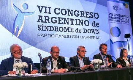 Massa y Zamora abrieron el VII Congreso Argentino de Síndrome de Down