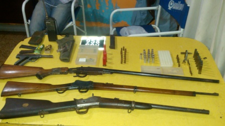 La policía de Malvinas Argentinas secuestró armas y municiones en un domicilio de Los Polvorines