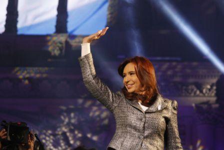 Cristina Fernández en el cierre de los festejos por el 25 de Mayo