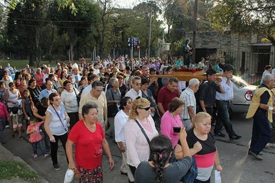 En San Isidro celebraron las fiestas patronales de Santa Rita