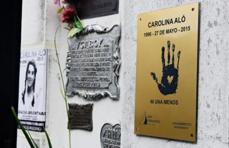 """San Fernando recordó a Carolina Aló a 19 años de su asesinato y se sumó a la campaña """"Ni Una Menos"""""""