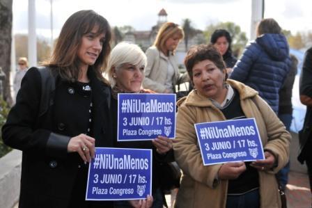 Malega Galmarini durante un nuevo homenaje a Carolina Aló