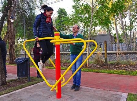 San Fernando inauguró un nuevo Paseo Aeróbico en la calle Brandsen
