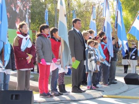 Prometieron la bandera 1.500 alumnos de Vicente López el Paseo de la Costa Gral. Manuel Belgrano