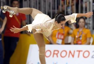 Giselle Soler, en patinaje artístico, le dio el primer Oro a la Argentina en Toronto 2015