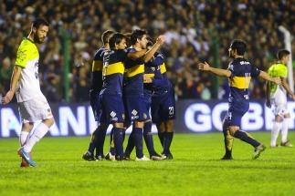 Boca alcanzó la punta al vencer a Sarmiento en Junín