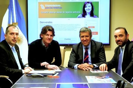 (de izquierda a derecha) Alejandro Sicardi, Nicolás Scioli, Javier Collado y Javier Montalvetti