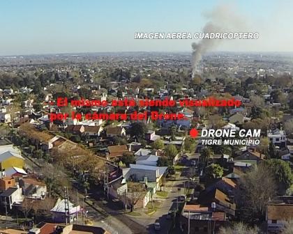 Por un Drone detectan un incendio en Tigre