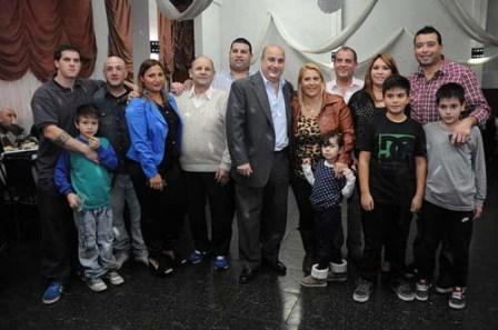 El presidente del Concejo Deliberante de San Isidro, Carlos Castellano, participó de la celebración junto a sus autoridades y socios.