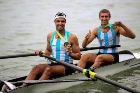 Diego López y Axel Haack quienes consiguieron la presea dorada en la final del 2 Sin