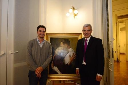 Julián Domínguez recibió al candidato a intendente de San Isidro por el FpV, Santiago Cafiero