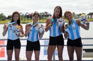 María Laura Abalo, Karina Wilvers, María Clara Rohner y Milka Kraljev obtuvieron la medalla de bronce en la prueba cuádruple par