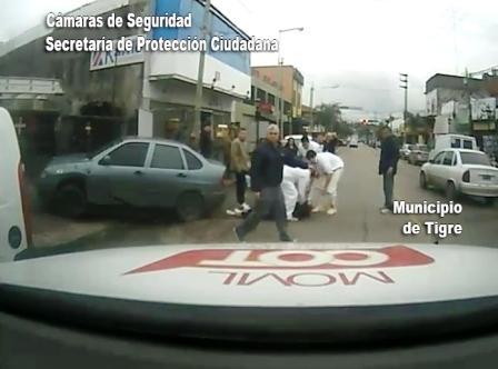Un delincuente recibió una paliza por parte de comerciantes en Tigre