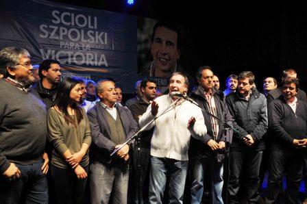 Szpolski presentó su lista a intendente junto a Scioli en Tigre