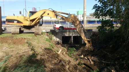 Realizan nuevos trabajos de limpieza y mantenimiento hidráulico en Tigre