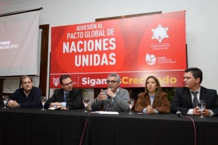 Tigre firmó la adhesión al Pacto Global de Naciones Unidas