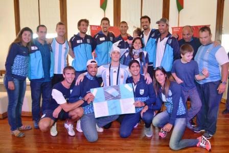 Tigre recibió a los remeros campeones de los Juegos Panamericanos