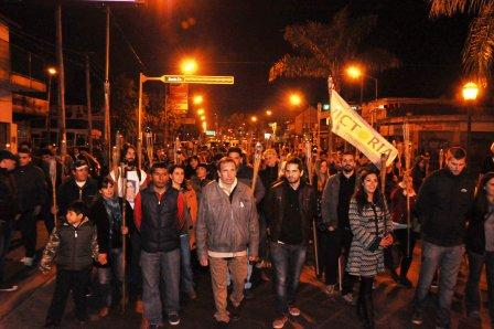 Szpolski encabezó el acto en homenaje a Eva Duarte de Perón en Tigre