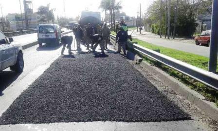 Tigre avanza con el plan de bacheo en las calles del distrito
