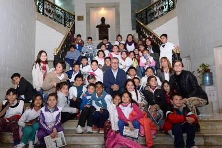 Alumnos de la escuela 56 de Benavídez visitaron el Municipio y el MAT